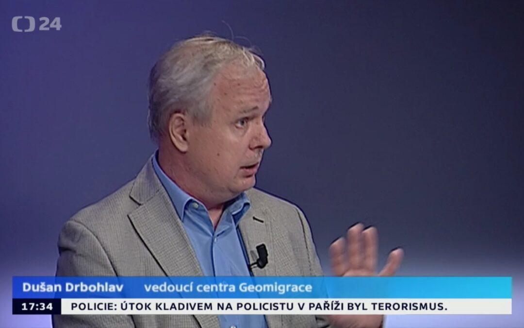 Dušan Drbohlav o zrušení víz pro Ukrajinu v pořadu ČT Studio 24