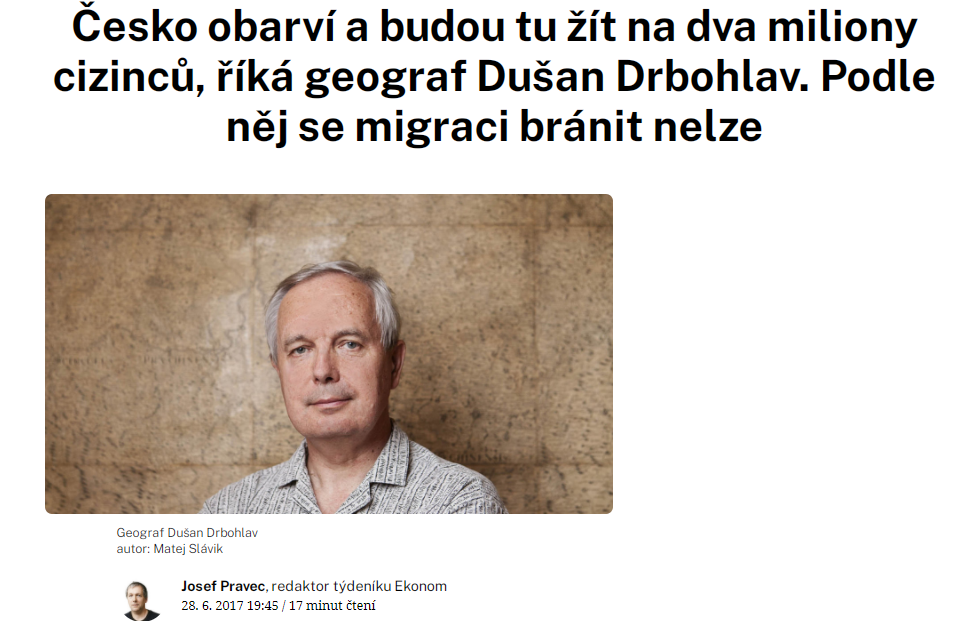 Interview with Dušan Drbohlav