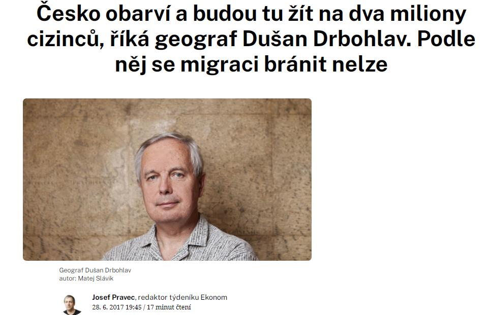 Rozhovor s Dušanem Drbohlavem v časopise Ekonom